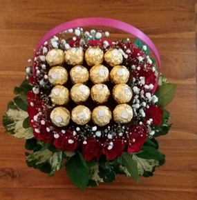 Send something different...Mix Flowers and chocolates