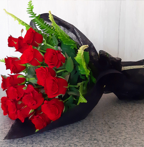 Red Roses and Chocolate Basket